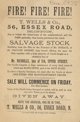 Advertisement for T.Wells & Company's sale of salvage stock